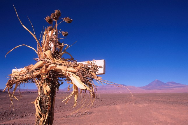 Cross in Chilean Desert